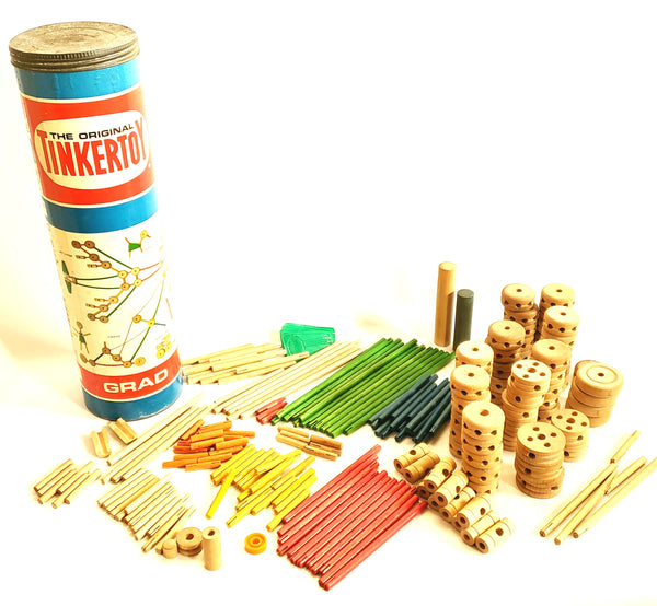 Original Vintage TINKERTOY GRAD No. 146 - Educational Building Set