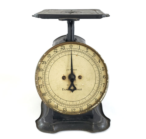 Antique Black Columbia Family Mercantile Scale, Kitchen Accent c. Early 1900's