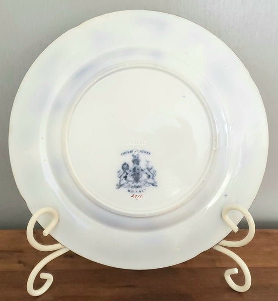 "Antique 10 1/2"" Chinoiserie Dinner Plate Corey Hill by William Ridgway, Son & Co England c. 1838-1847"