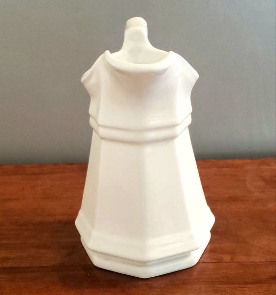 "Gothic Octagon 6"" Miniature White Ironstone Cream Pitcher ""Sydenham"" by Red-Cliff Co."