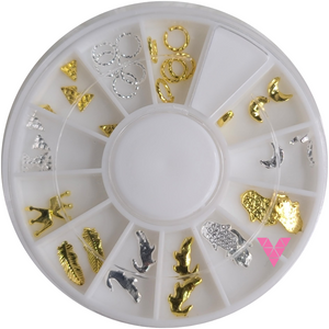 #23 Gold Nailart Wheel