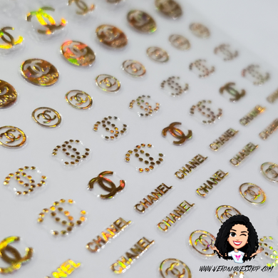 Gold Ab Chanel Mix Sticker