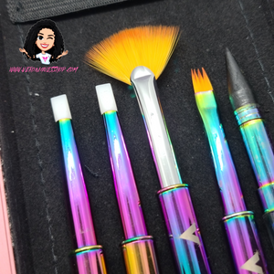 NEW 15pcs Rainbow Brush Set