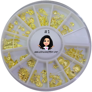 #1  Gold Nailart Wheel