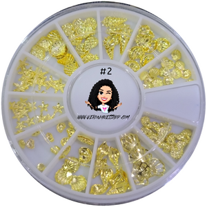#2  Gold Nailart Wheel