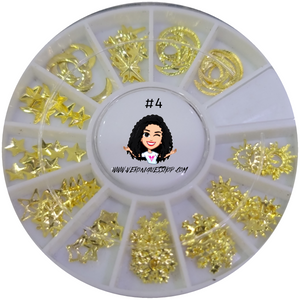 #4  Gold Nailart Wheel