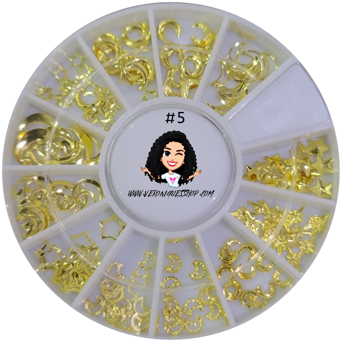 #5  Gold Nailart Wheel
