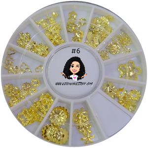 #6  Gold Nailart Wheel