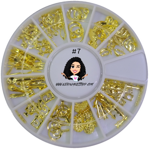 #7  Gold Nailart Wheel