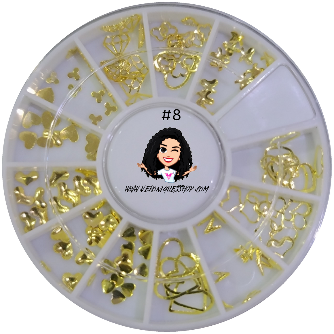#8  Gold Nailart Wheel