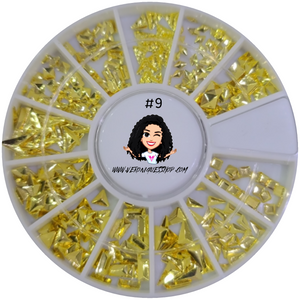 #9  Gold Nailart Wheel