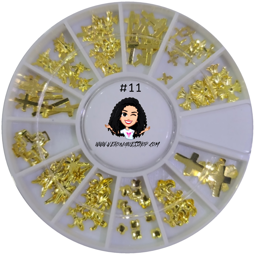 #11  Gold Nailart Wheel