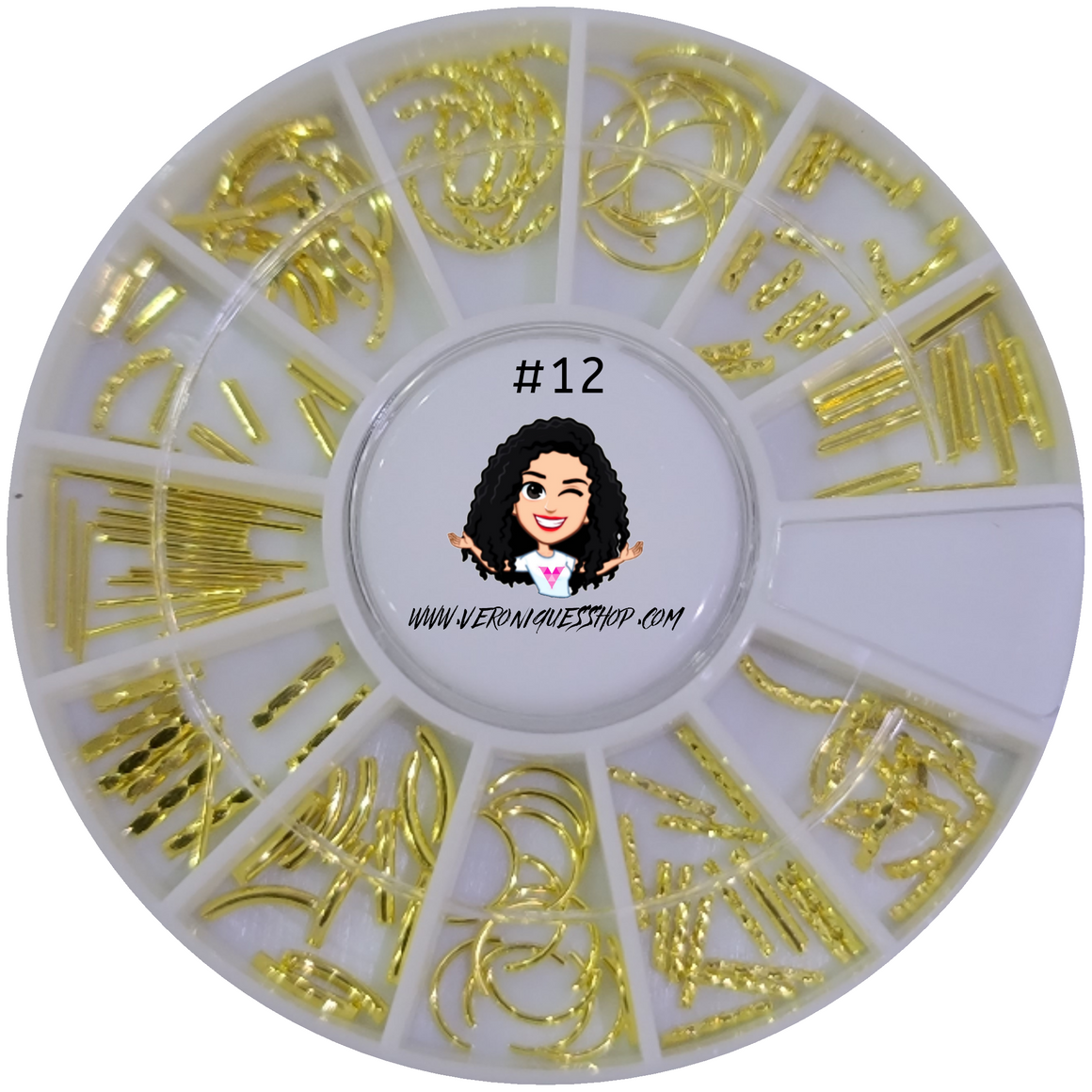 #12  Gold Nailart Wheel