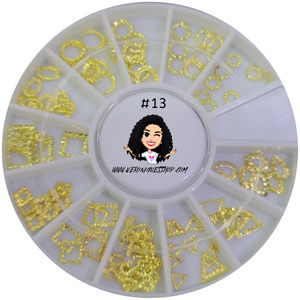 #13  Gold Nailart Wheel