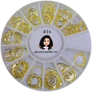 #14  Gold Nailart Wheel
