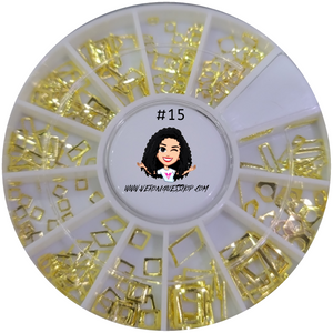 #15  Gold Nailart Wheel
