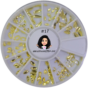 #17 Gold Nailart Wheel