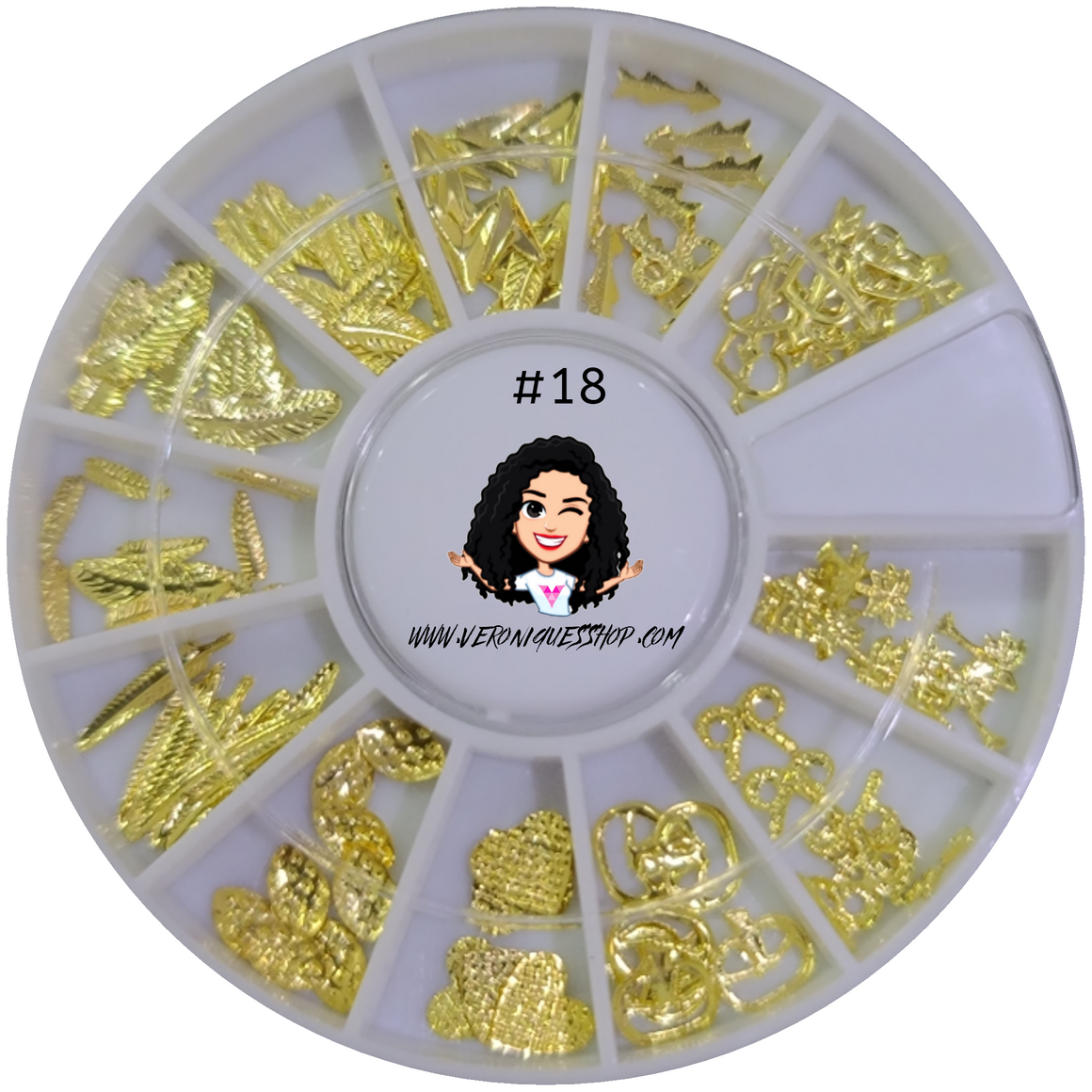 #18 Gold Nailart Wheel