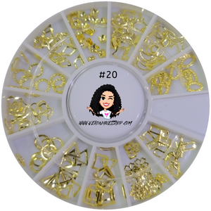 #20 Gold Nailart Wheel
