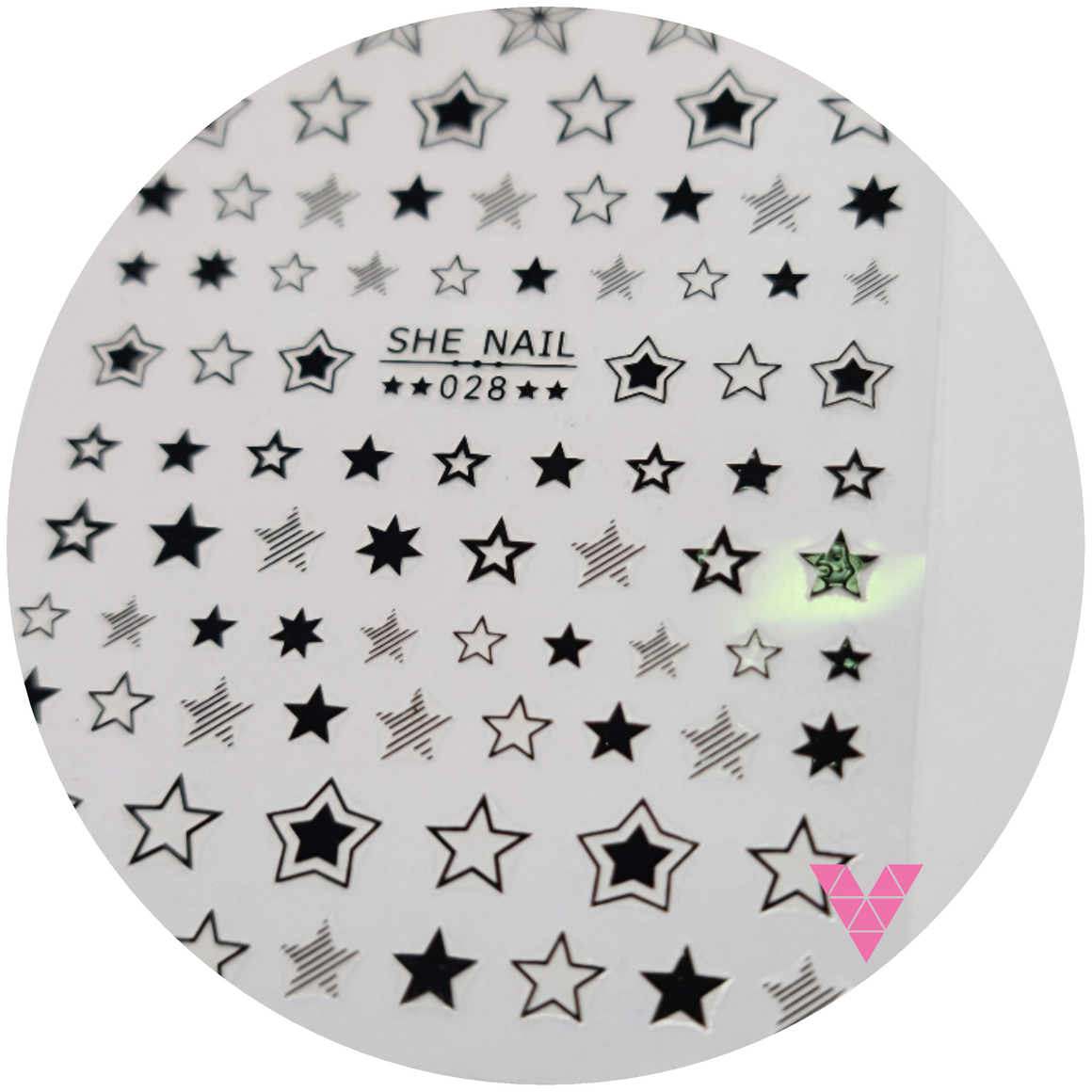 028 Star Black Sticker
