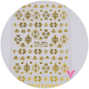 101 Gold Design Sticker