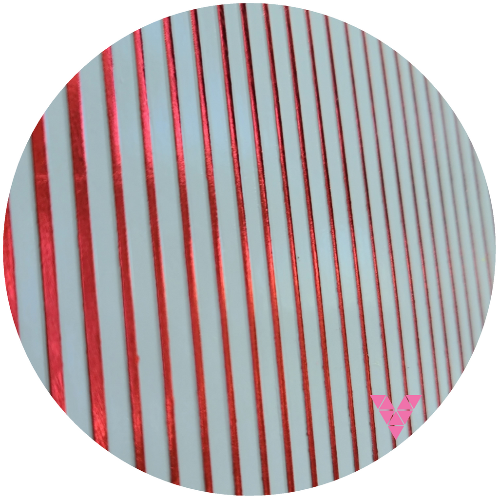 Metallic Red Stripe Sticker