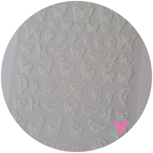 White Butterfly Sticker #1a