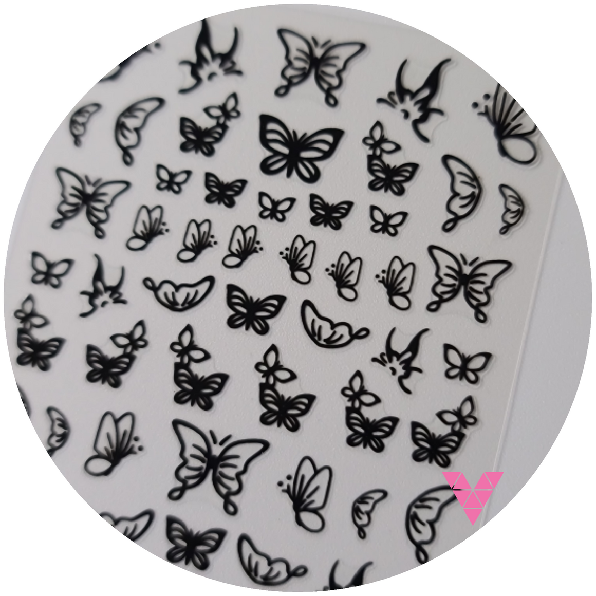 Black Butterfly Sticker #1a