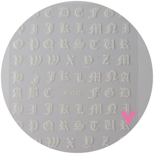 White English Letters  Sticker