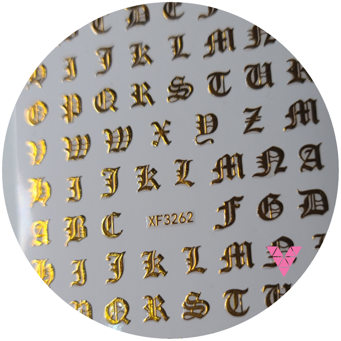 Gold Old English Letters  Sticker