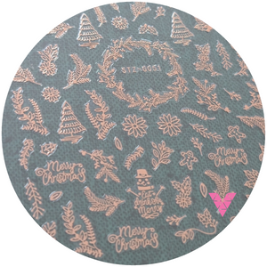 #51 Rose Gold Xmas Sticker
