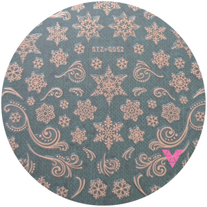 #52 Rose Gold Xmas Sticker