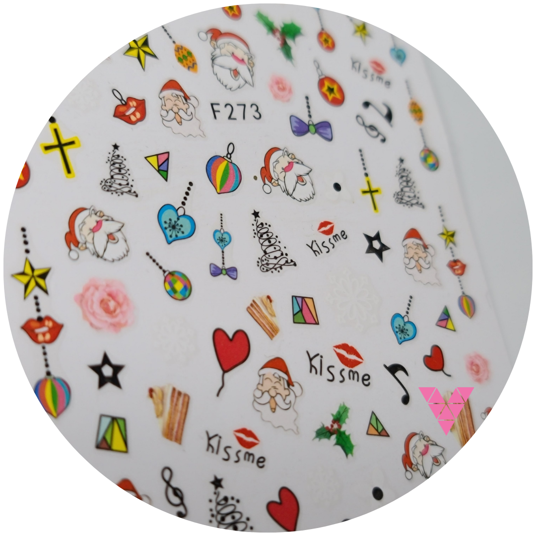 273 Colorful Xmas Sticker