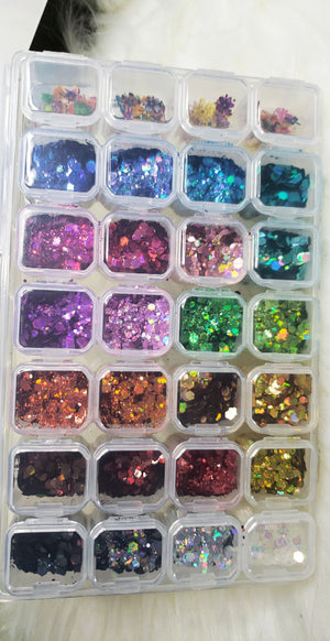 Holo Hex & Mix Flowers Box