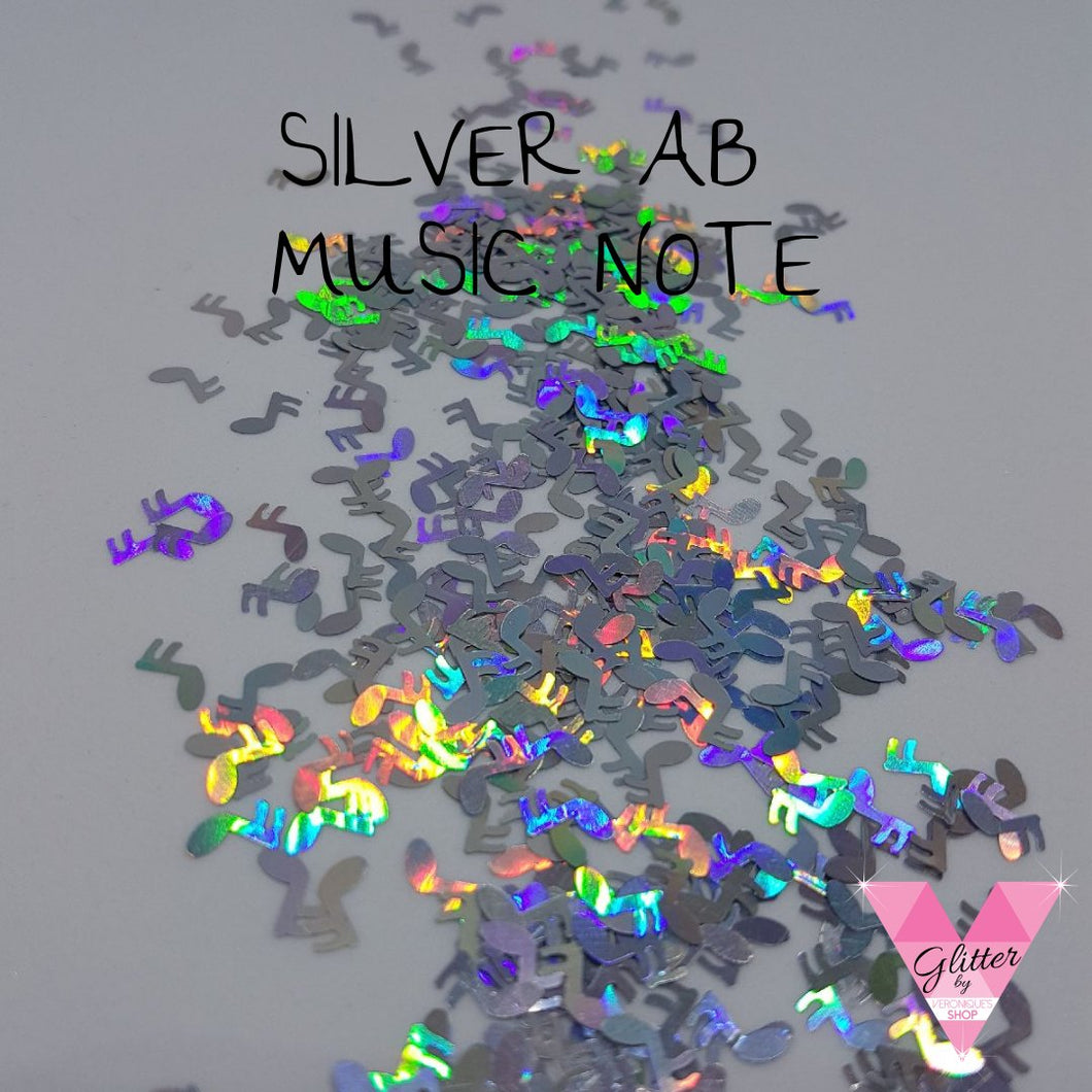 Silver Ab Music Note