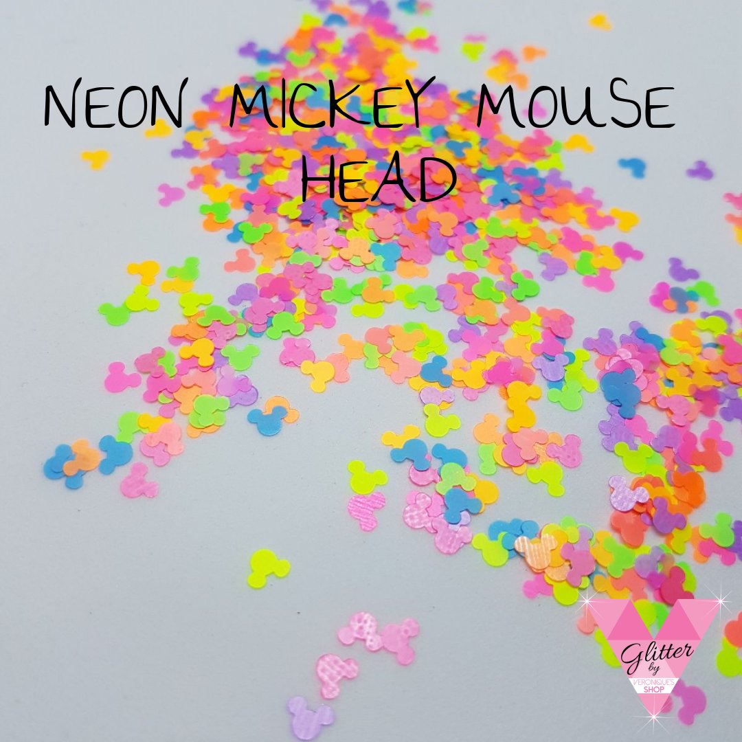 Neon mickey Mouse Head