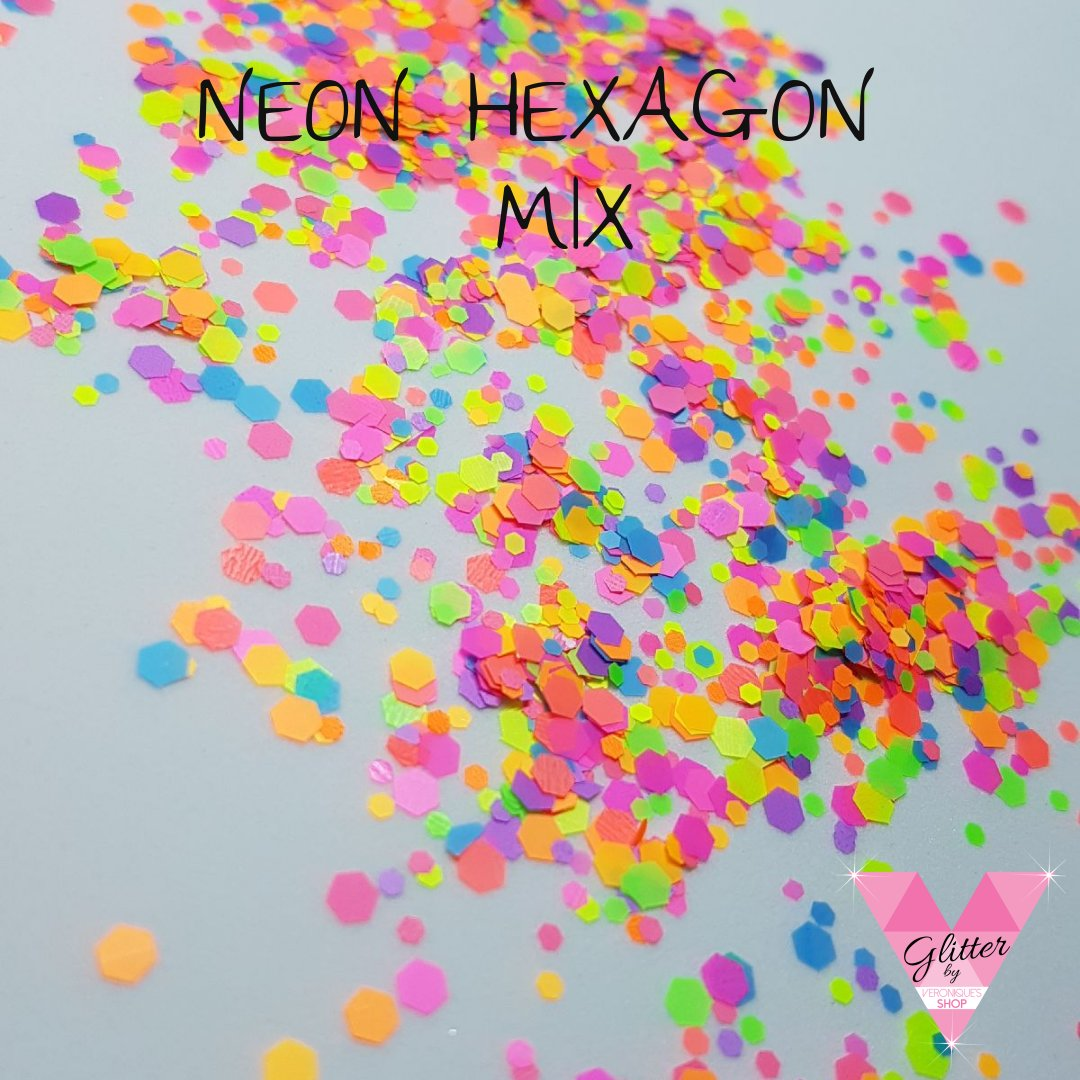 NEON HEXAGON MIX