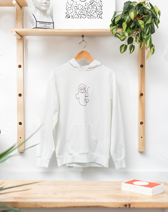 Face Embroidery Hoodie
