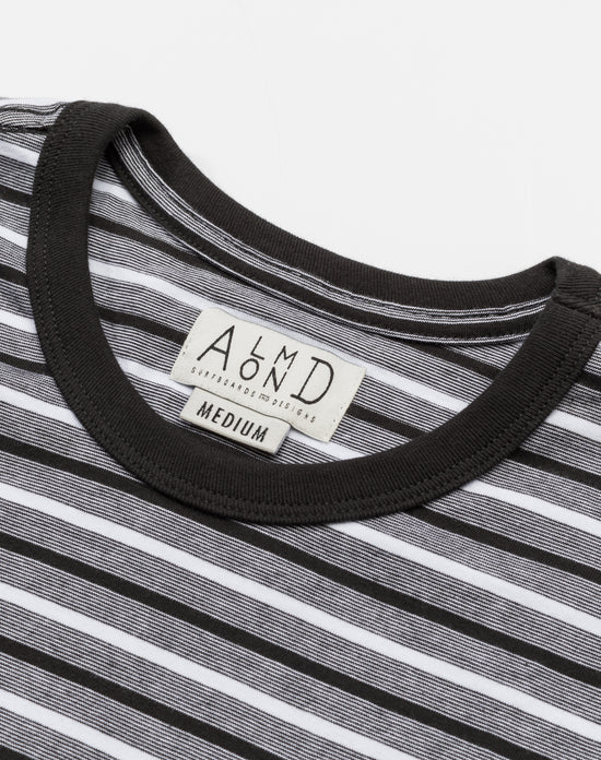 Almond Sportsman Striped Tee
