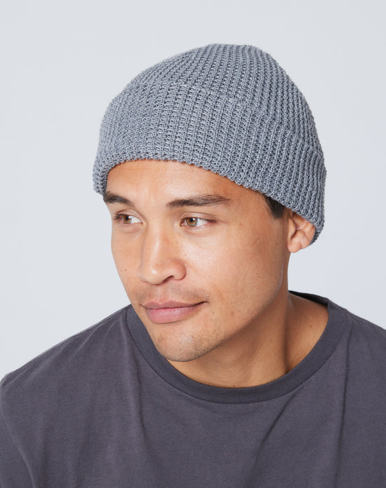 Recycled Waffle-Knit Beanie
