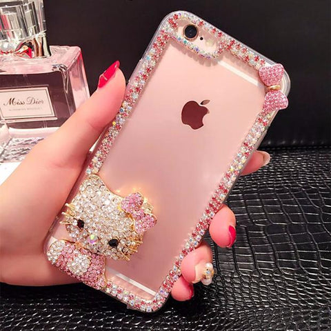 Luxury Diamond Hello Kitty Case