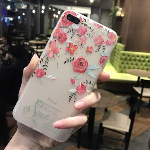 3D Flower Mobile Case