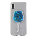 721-Glitter Star Liquid Quicksand Case For iPhone X