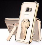 Electroplate Shiny Glitter Gold Case For Samsung-gold