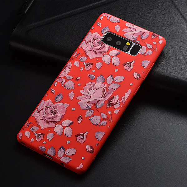 720-3D Flower Soft silicone Cover for Note 8