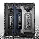 1037-Card Wallet Slot Shockproof Stand Hold Case For Samsung Note 9