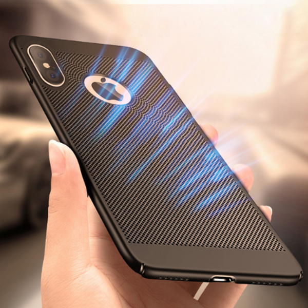 641-Luxury Heat Dissipation Matte Plastic Case For iPhone X