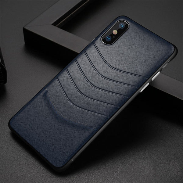 1129- Luxury Ultra Thin Leather + PC Case For iPhone