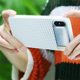 804-Honeycomb Hollow Heat Dissipation hard Case For iPhone