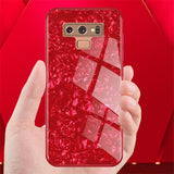 1000-Bling Conch Tempered Glass Case For Samsung Note 9